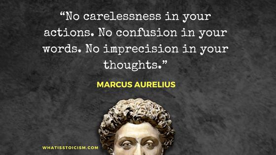 Marcus Aurelius - No imprecision