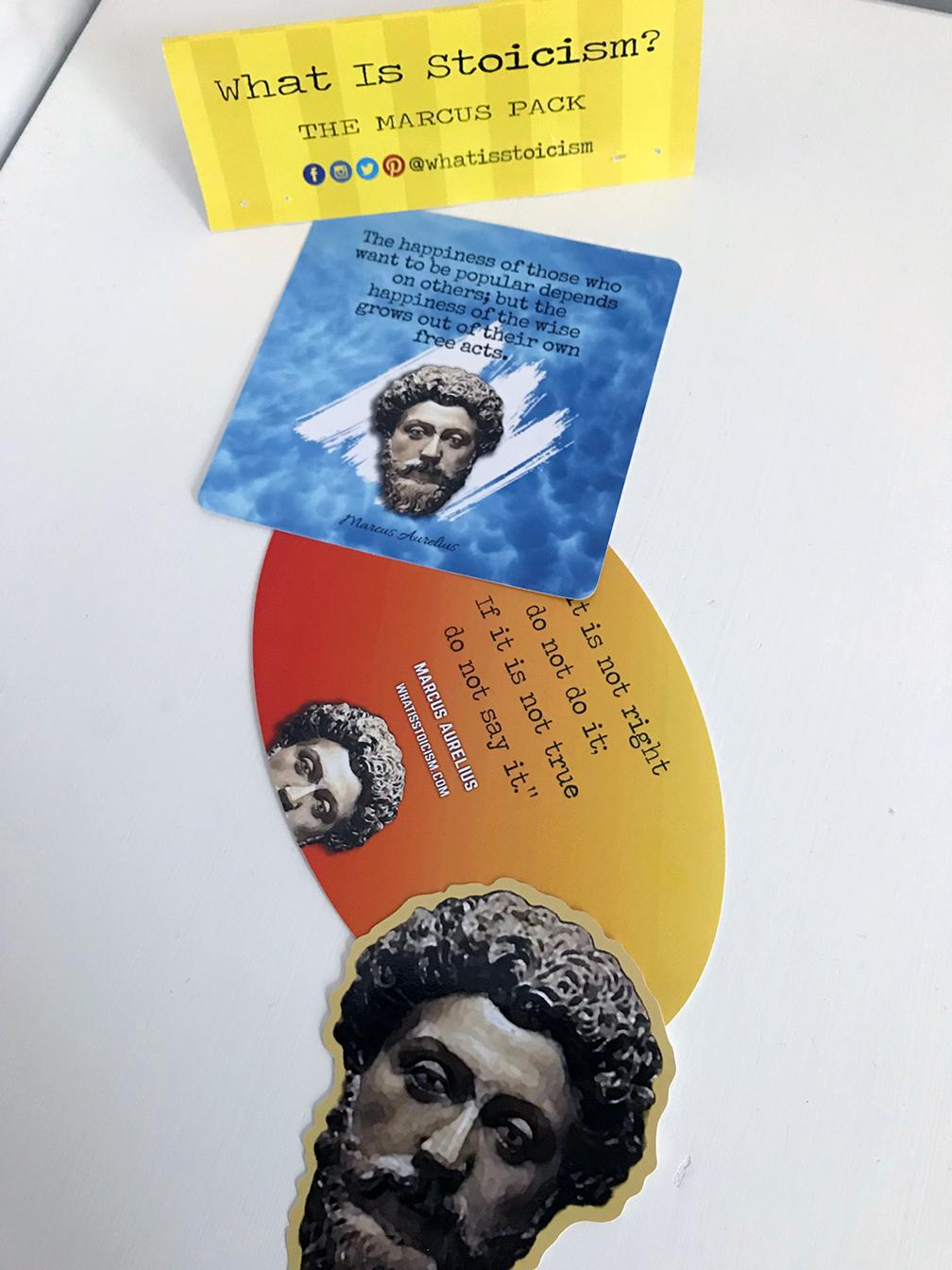 Stoic Reminders – Marcus Aurelius Stickers!