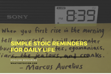 Stoic Reminders