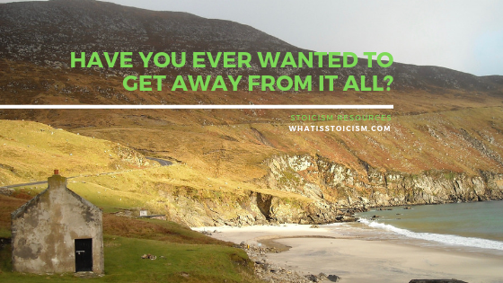 Have You Ever Wanted To Get Away From It All?