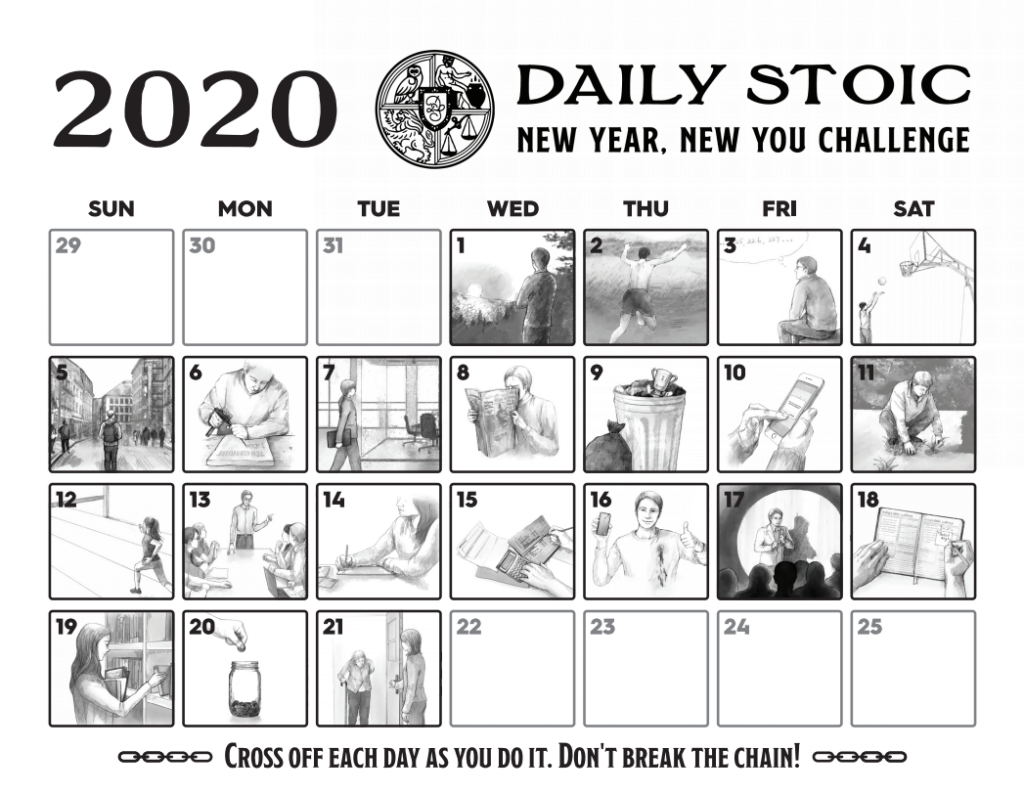 Daily Stoic New Year New You Challenge